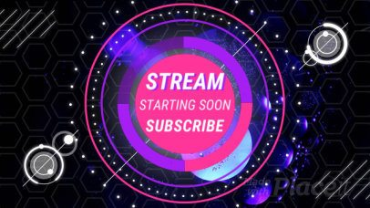 Twitch Stream Starting Soon Screen Loop Animation Video Maker 1585