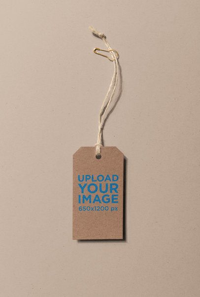 Brand Tag Mockup with a Twine String 27656