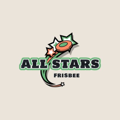 Sports Logo Template for an All-Star Frisbee Team 2225a