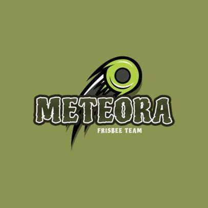 Cool Female Frisbee Team Logo Generator 2225b