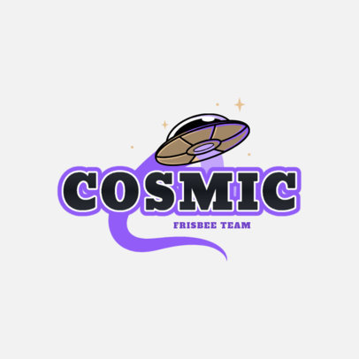 Frisbee Team Logo Maker Featuring a Flying UFO Clipart 2225e