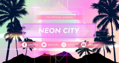 Twitch Banner Template with a Synthwave Feel 1502a