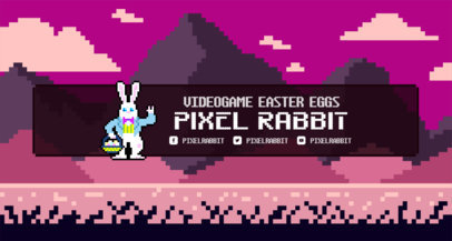 Retro Twitch Banner Maker with a Mountain Setting 1452d