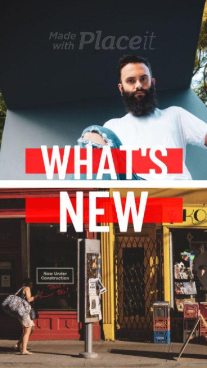 Urban Style Instagram Story Video Maker for New Arrivals 1674