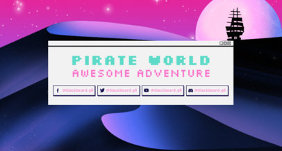 Twitch Banner Template Featuring a Retrowave Fantastic Scenario 1503e