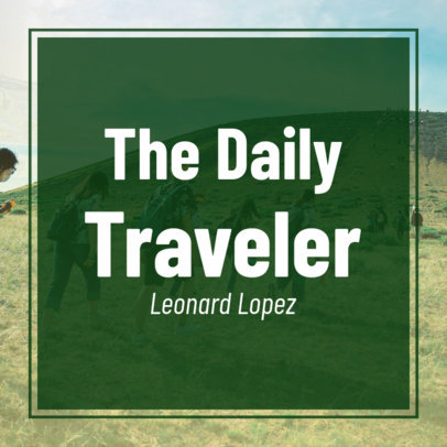 Travel-Themed Show Podcast Cover Template 1500c