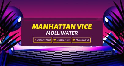 Outrun-Inspired Twitch Banner Maker with a Synthwave Design 1503o