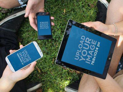 iPad Samsung Galaxy iPhone Outdoors