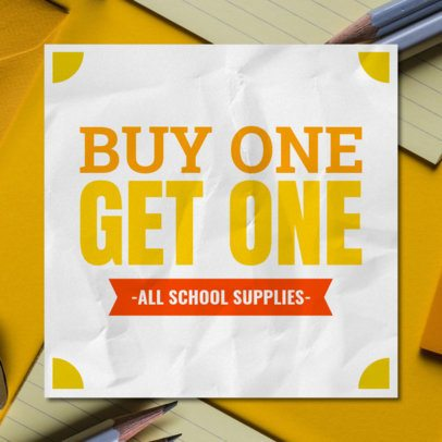 Banner Maker for a School Supplies Sale 546h