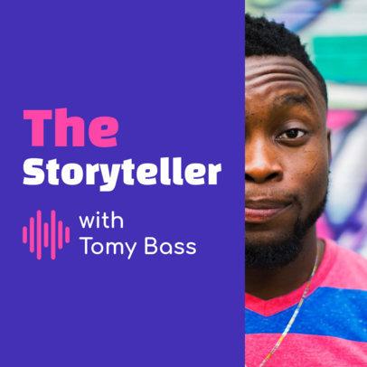 Podcast Cover Maker for a Narrative Podcast 1499e
