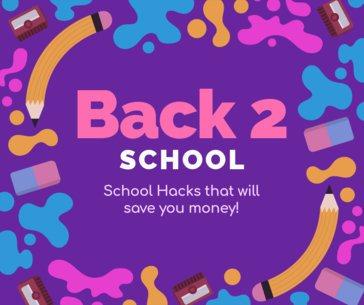 Facebook Post Template of School Hacks 622f