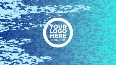 Logo Reveal Video Maker with Colored Liquid Glitch 1693