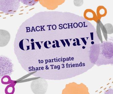 Back To School Giveaway Post Maker for Facebook 637g