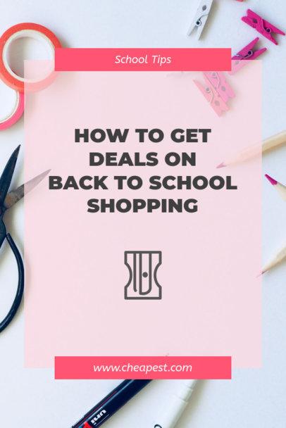 Back-To-School Shopping Deals Pinterest Pin Maker 659g