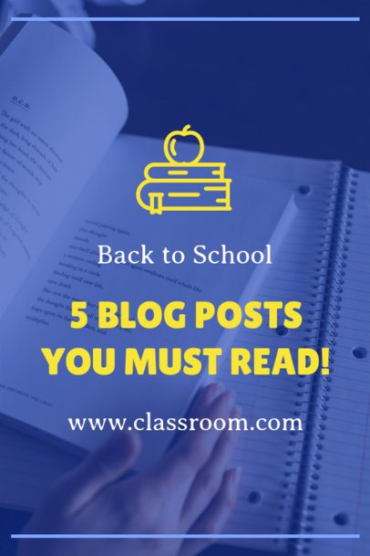 Blog Posts to Read Before Going Back to School Pinterest Pin Maker 1121f