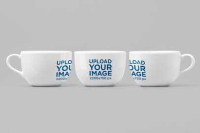 Mockup of Three 24 Oz Mugs in Different Angles 27888