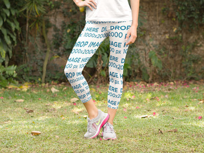 Leggings Mockup of a Woman Stretching in Yoga Pants a8369