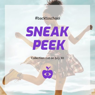 Instagram Post Template for a Back to School Season Clothing Collection 634f-1527