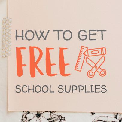 Pinterest Pin Maker for a School Supplies Blog Post 564f