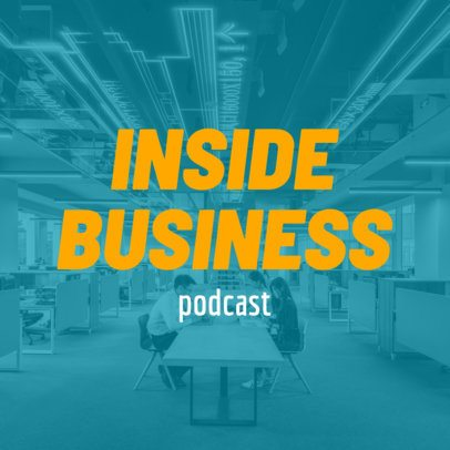 Business-Related Podcast Cover Template 1492e