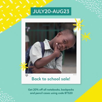 Instagram Post Template for a Back-To-School Sale 643g