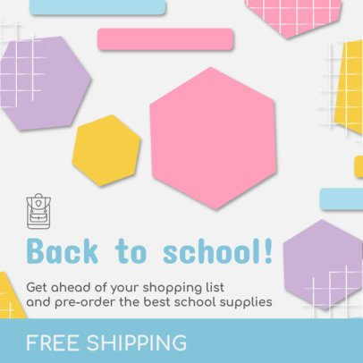 Instagram Post Maker for a Back to School Promo 1100f-1527