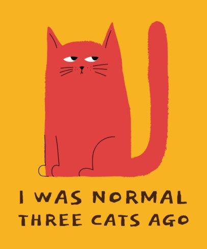 T-Shirt Design Template Featuring a Grumpy Cat Clipart 1517