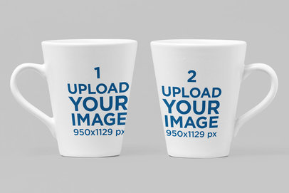 Mockup of Two 11 Oz Mugs in Different Angles 28259