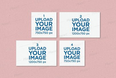 Mockup of Four Flyers in Pairs of Different Sizes 178-el