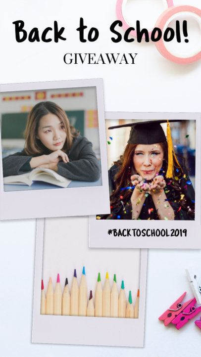 Instagram Story Template for a Back to School Giveaway 960g