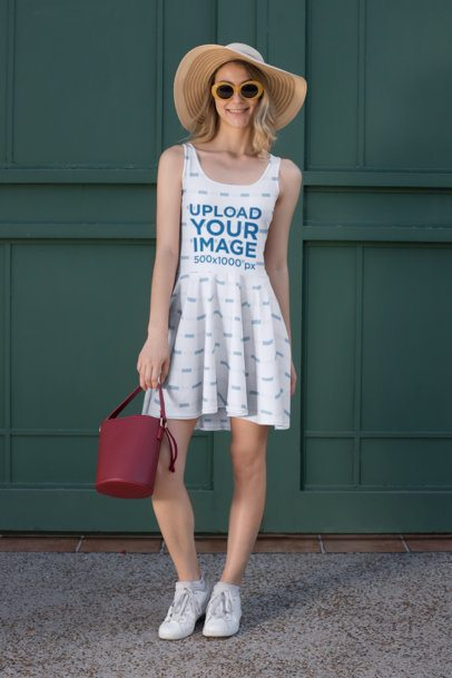 Dress Mockup of a Trendy Woman 27985
