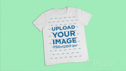 Stop Motion Video of a Flat Laid T-Shirt with a Color Changing Background 27993