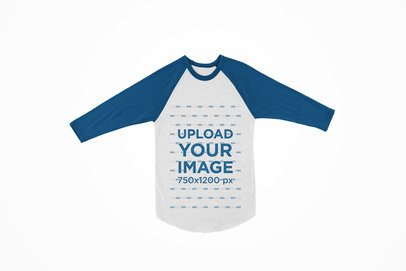 Long Sleeve Raglan T-Shirt Mockup Featuring a Plain Background 121-el