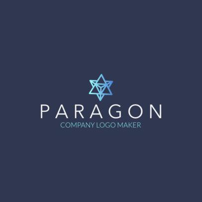 Company Logo Maker with a Star Polygon Icon 1518k