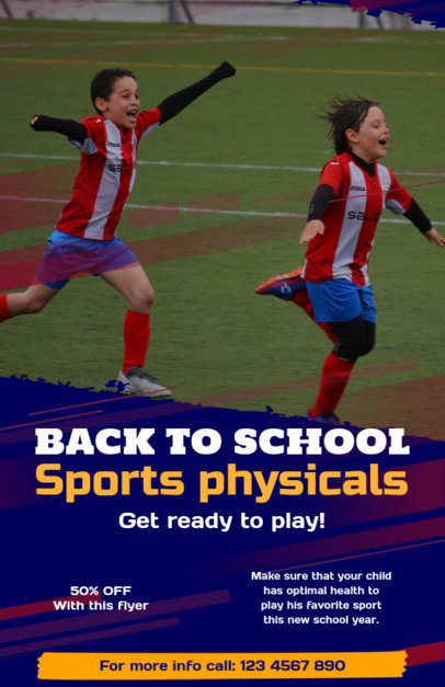Flyer Template for a Back-To-School Sport Event 347f