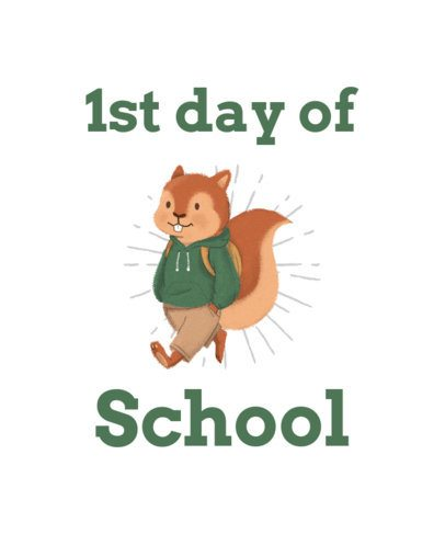 First Day of School T-Shirt Design Maker with a Smiling Squirrel 1520a