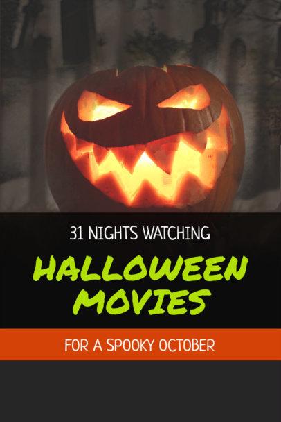 Halloween Pinterest Pin Maker for a Horror Movies List 1127g