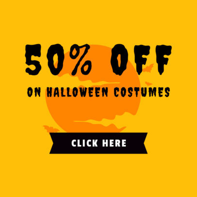 Online Banner Maker for a Fifty-Percent-Off on Halloween Costumes 744h