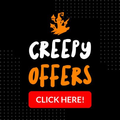 Banner Template for Halloween-Themed Offers 1048i