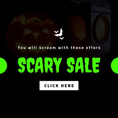 Ad Banner Template for a Halloween Scary Sale 746g