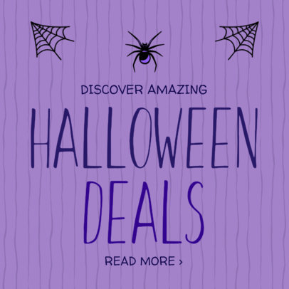 Social Media Post Template for Amazing Halloween Deals 584f