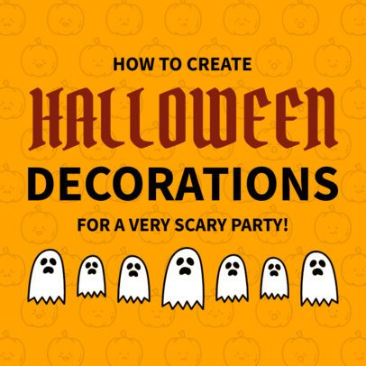 Social Media Post Template for a Halloween Decorations Tutorial 584h