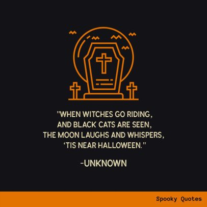Halloween Quotes Instagram Post Creator 612g