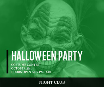 Facebook Post Creator for a Spooky Halloween Party 638j