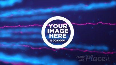 Logo Reveal Intro Maker with Neon Plasma Beams 1666
