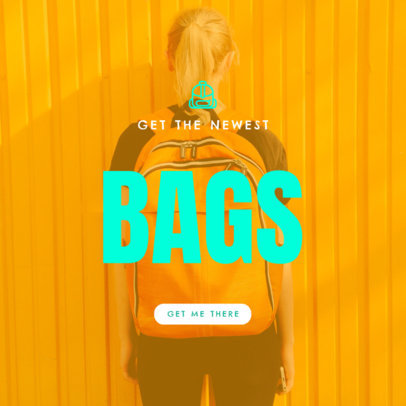 Online Banner Creator for a Backpack Sale 754f