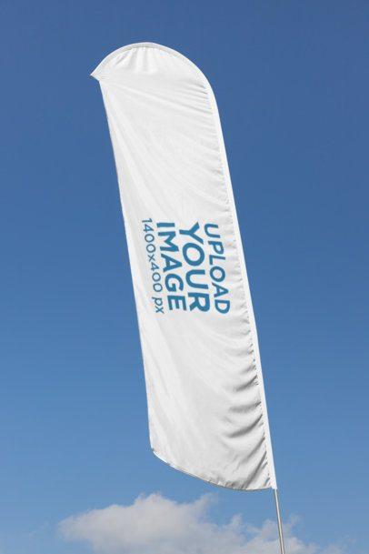 Flag Banner Mockup on a Blue Sky Background 28031