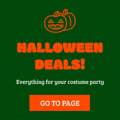 Cool Ad Banner Template Featuring Halloween Clipart 16614i