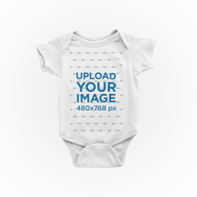 Onesie Mockup Featuring a Plain Background 224-el