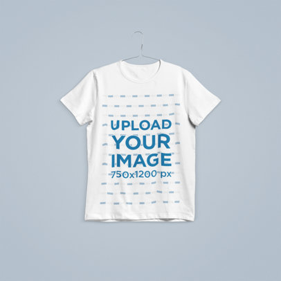 Mockup of a Hanged T-Shirt in a Plain Color Background 100-el
